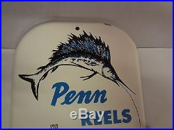 VINTAGE PENN REELS ADVERTISING THERMOMETER FISHING EXCELLENT ORIGINNAL 575-X