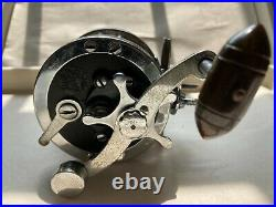VINTAGE PENN SENATOR 110 1/0 FISHING REEL WITH ROD CLAMP Made in the USA