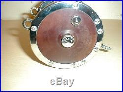 Vintage Penn Senator 114-h 6/0 High Speed Fishing Reel U. S. A. Left Hand Crank