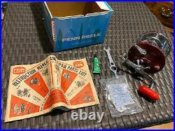 VINTAGE PENN SUPER PEER 309 M FISHING REEL w /BOX & TOOL