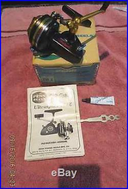 VINTAGE Penn Spinfisher 714Z Ultrasport Reel in ORIG. BOX withMANUAL, OIL, & TOOL