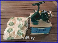 VINTAGE Penn Spinfisher Greenie 712 Spinning Reel / With Box
