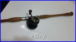 VINTAGE Sheepshead Bamboo Fishing Pole with PENN Fishing Reel