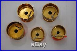 VTG Lot of 5 Penn Spinfisher Gold Fishing Spools for Penn Spinning Reels
