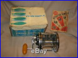 Vintage 1970's Penn Senator 6/0 Big Game Fishing Reel Unused Mint in Box