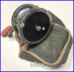 Vintage Antique Estate Penn #49 Super Mariner MFG Co USA Spool Fishing Reel Case