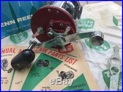 Vintage BRAND NEW Penn JigMaster 500 SM Metal Spool Reel ORIG BOX PAPERS