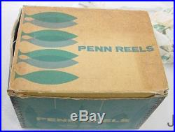 Vintage Black Penn 113 4/0 Senator Reel With Box Paper Wrench Grease Very Clean