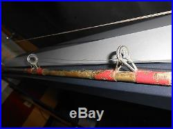 Vintage Chesapeake bay trolling rod and Penn 349 Reel with wire line and rigged