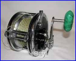 Vintage Collectible PENN MASTER MARINER #349 Saltwater Reel green handle