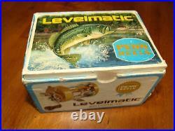 Vintage Gold Penn 910 Levelmatic Bait Casting Reel with Box & Dust Bag EXCELLENT
