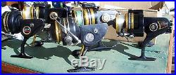 Vintage Lot of 5 Penn SS Series Spinning Fishing Reels Parts/Repairs Only