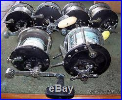 Vintage Lot of 6 Penn Long Beach Conventional Fishing Reels Parts/Repairs