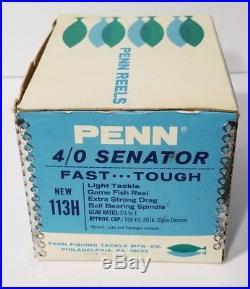 Vintage NOS! Penn Senator 4/0 Special 113H Conventional Fishing Reel MINT NEW
