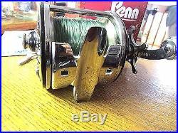Vintage PENN 209MS Level Wind Reel & Box & Manual & Wrench & Rod ClampNIB