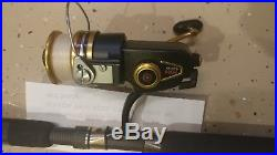 Vintage PENN 450 SS spinning Fishing reel with Hand Crafted Rod