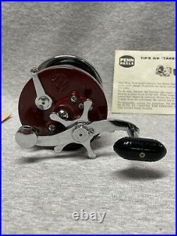 Vintage PENN 501 JIGMASTER CONVERSION with Manuel Parts Instructions Mint