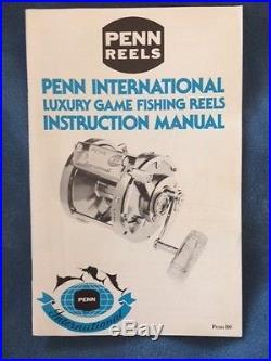 Vintage PENN 50 International Reel with Bag. 50th anniversary New