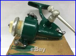 Vintage PENN 716 ultra light spinning reel with box, papers, tools, USA