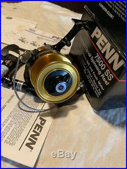 Vintage PENN 7500SS Metal Spinfisher Fishing Reel Quality USA Made No Reserve