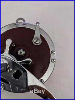 Vintage PENN MASTER MARINER 349 Conventional Sea Reel made in USANICE CHROME