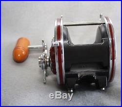Vintage PENN SENATOR 113H 4/0 Conventional Reel with Carl Newell Conversion Kit