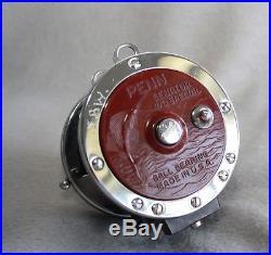 Vintage PENN SENATOR 113H 4/0 Conventional Reel with Carl Newell Conversion Kit
