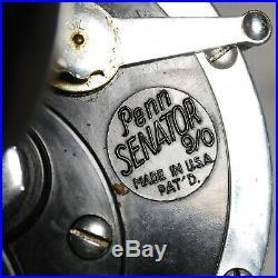 Vintage PENN SENATOR No. 115 9/0 Game Fishing Reel anti-reverse original box