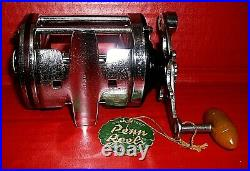 Vintage PENN SQUIDDER No. 140 Surf Casting Reel withBox & Extras, circa 40's/50's