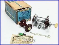 Vintage PENN SQUIDDER Red 140 REEL withOrig Box & tools Right Hander NICE