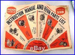 Vintage PENN Senator 114H 6/0 BIG GAME Conventional Saltwater Fishing Reel BOX