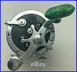 Vintage PENN Senator 3/0 Game Fish Fishing Reel Green