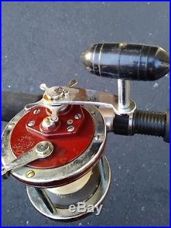 Vintage Penn 112H Special Senator 3/0 Fishing Reel & Penn Senator Rod