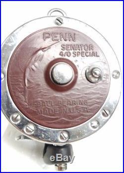 Vintage Penn 113h special 4 / 0 Senator fishing reel no box with steel line