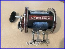 Vintage Penn 113hlw Senator 4/0 Special, Wide Spool Saltwater Fishing Reel