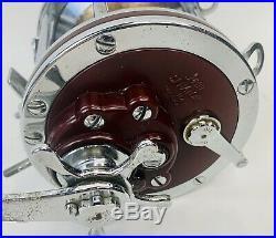 Vintage Penn 114H Senator 6/0 Big Game Fishing Reel Red Color #2 USA