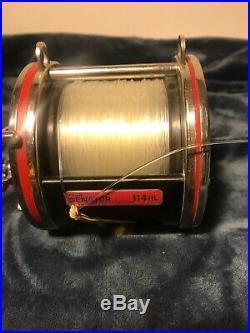 Vintage Penn 114H Special Senator 6/0 High Speed Big Game Fishing Reel USA Nice