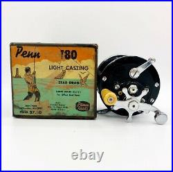 Vintage Penn 180 Casting Reel Pat'D' with Box 1950's