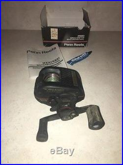 Vintage Penn 2000 Speed Shifter 2-Speed Baitcasting reel with Box and Manuals