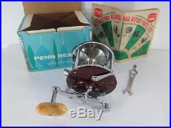 Vintage Penn 309M Super Peer Level-wind Fishing Reel withRod Clamp Minty