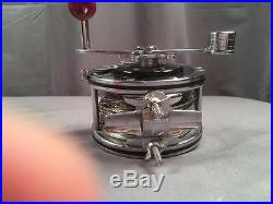 Vintage Penn 49 Deep Sea Fishing Reel With Fishing Seascape