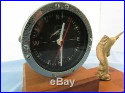 Vintage Penn 49 Fishing Reel Clock By Marine Time Co 1972 Not Working Rare