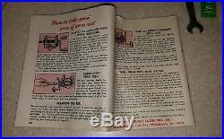 Vintage Penn 60 Long Beach Reel Stainless Star Drag Red Handle Box 1969 receipt