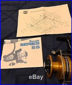 Vintage Penn 6500SS Fishing Reel Made in USA Black & Gold BRAND NEW IN BOX