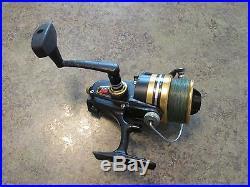 Vintage Penn 6500SS Spinning Fishing Reel Made in USA Black & Gold Power Drag
