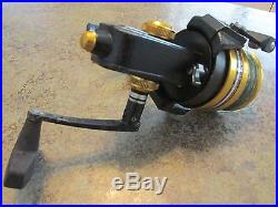 Vintage Penn 6500SS Spinning Fishing Reel Made in USA Black & Gold Power Drag