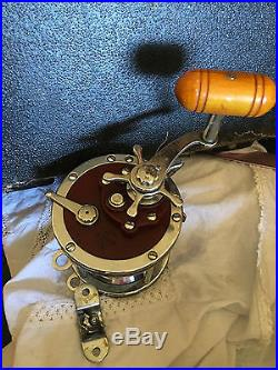 Vintage Penn 6/0 Senator114-H Conventional Fishing Reel Smooth withrod clamps