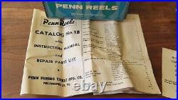 Vintage Penn 6/0 Senator 114 H Fishing Reel Big Game made in the USA