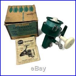 Vintage Penn 706 Spinfisher Fishing Reel in Original Box & Directions Greenie