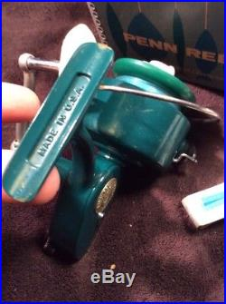 Vintage Penn 710 Spinfisher Greenie Spinning Reel With Original Box & Manual